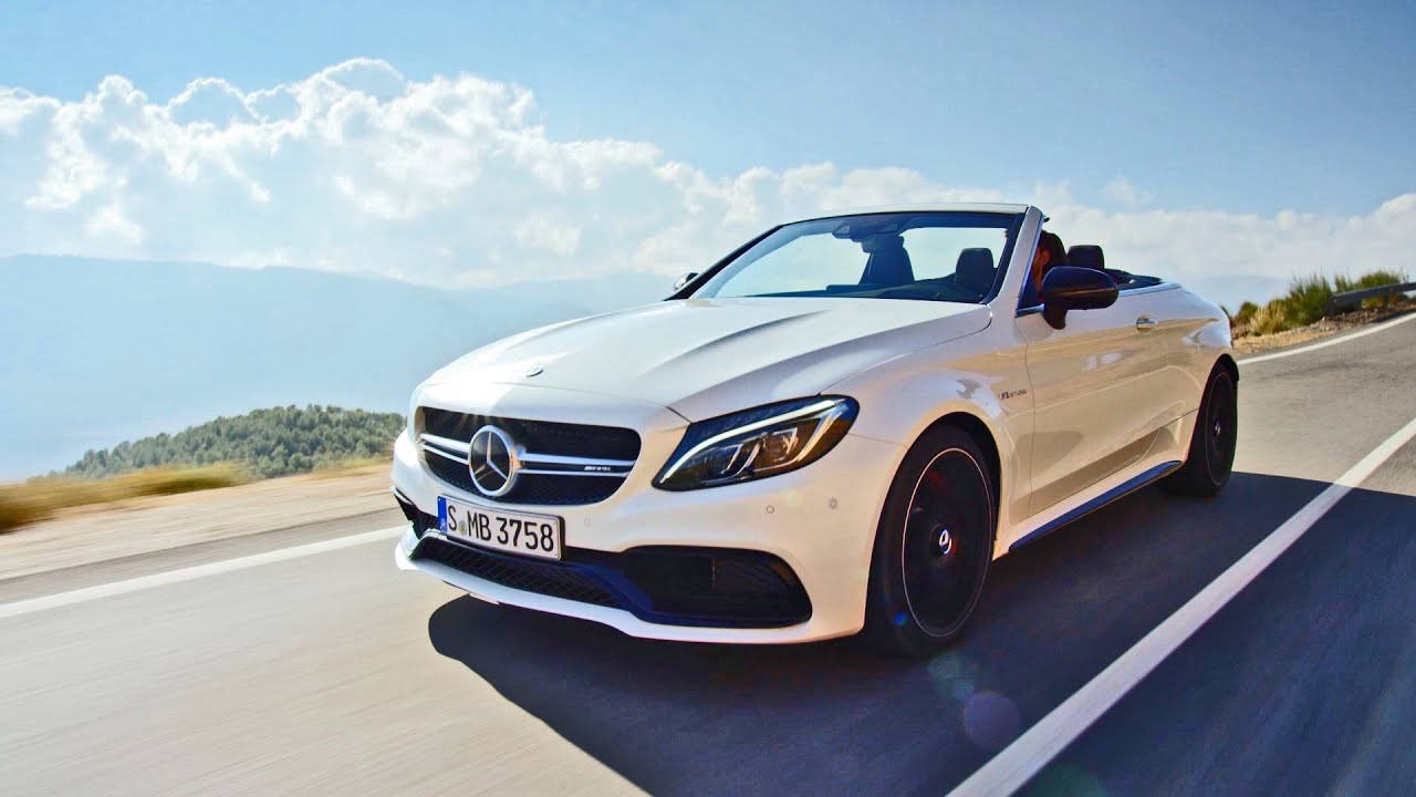 2017 mercedes amg c63 s convertible driving footage. Black Bedroom Furniture Sets. Home Design Ideas