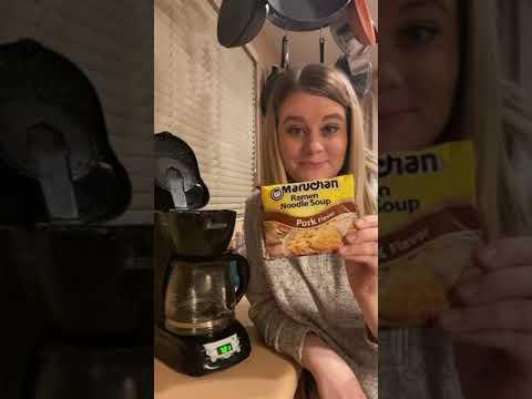 HOW TO MAKE RAMEN IN A COFFEE POT
