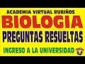 BIOLOGÍA PREGUNTAS RESUELTAS-ADMISIÓN EXAMEN UNIVERSIDAD SAN MARCOS 2016