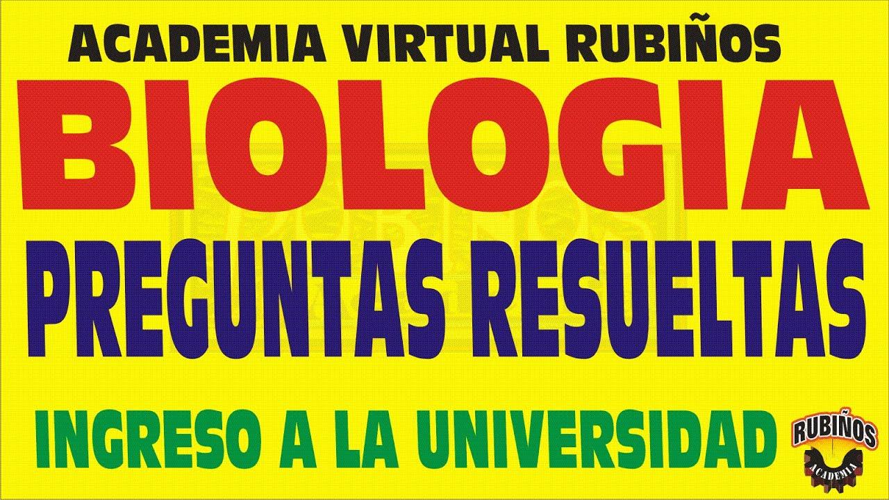 Biologia Preguntas Resueltas Admision Examen Universidad San Marcos 2016 By Rubinos