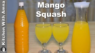 Perfect Mango Squash Recipe - Homemade Mango Squash - Kitchen With Amna