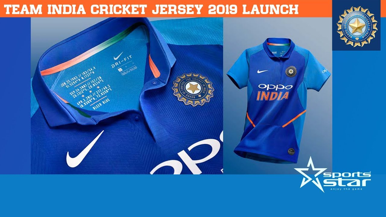 Team India Cricket New Jersey 2019 World Cup Jersey Sports Star 2