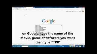 How to Download a Movie, Game ,software for free using torrent !!