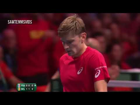 David Goffin (BEL) Vs Jo Wilfried Tsonga (FRA)   Davis Cup 2017 Final Highlights HD