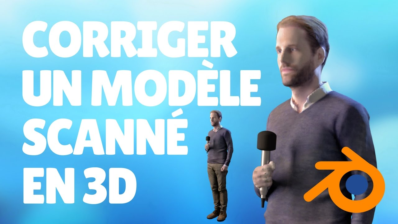 tuto blender fr impression 3d comment corriger un personnage en 3d obtenu par un scanner youtube. Black Bedroom Furniture Sets. Home Design Ideas