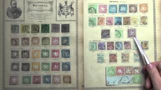 Wurttemberg - Impressive and Valuable Stamp Collection