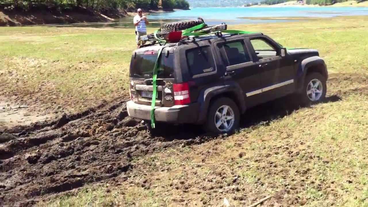 jeep cherokee- liberty kk off road λιμνη πλαστηρα - YouTube