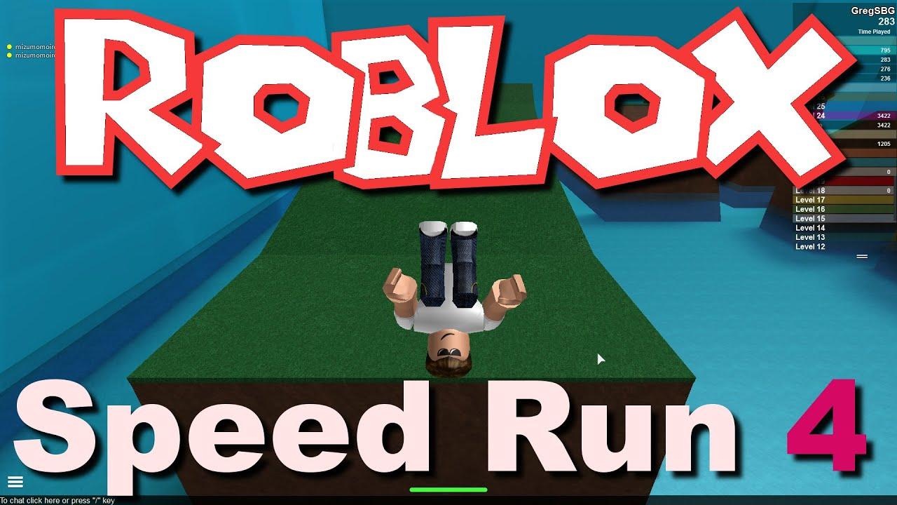 speed run game roblox