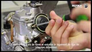 Contrôle de la valve à l'échappement   moteur Rotax
