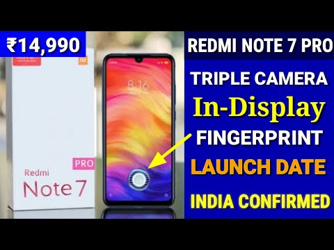 Redmi Note 7 Pro - Indisplay Fingerprint scanner   Price & Launch Date India   Redmi Note 7 Mp3