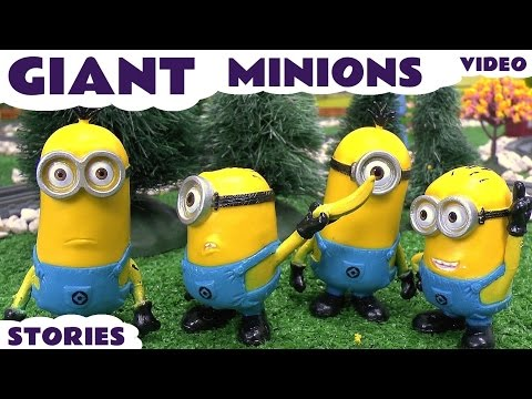 Minions Giant Funny Minions Toy Story Video Thomas & Friends Play Doh Surprise Eggs Despicable Me