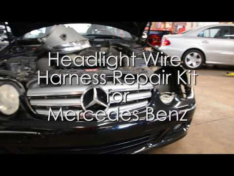 Mercedes Headlight Wire Repair Kit Video - YouTube  YouTube