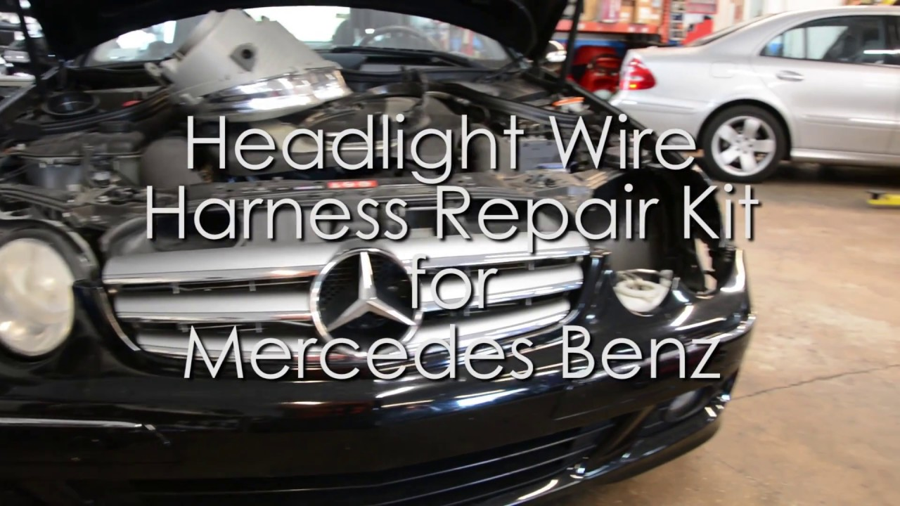 maxresdefault mercedes headlight wire repair kit video youtube Toyota Corolla Wiring Harness at cos-gaming.co