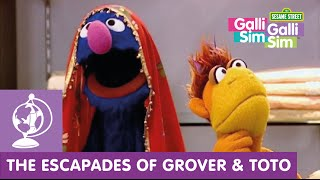 Galli Galli Sim Sim  | Grover and Toto at the Saree Shop | Videos for children