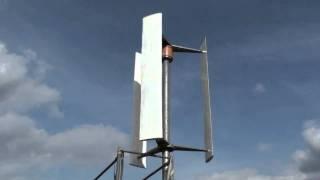 "VAWT ""Nubelo""; vertikale Windkraftanlage/Windturbine ""Nubelo"" nach Darrieus-Prinzip"