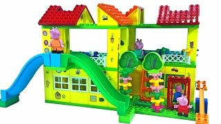 Peppa Pig Blocks Mega House Construction Set With Water Slide Lego Building #1