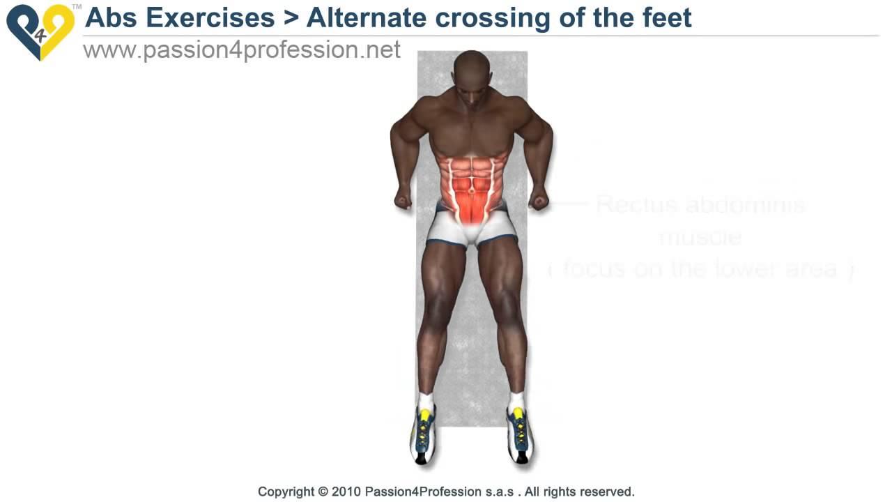 تمرين عضلات البطن السفلية باستخدام الأرجل Youtube