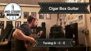 cigar box guitar loop original - tuning g-c-e