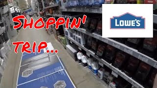 SHOPPIN' TRIP TO LOWES🤔🤔🤔 for a Kobalt tool cabinet.