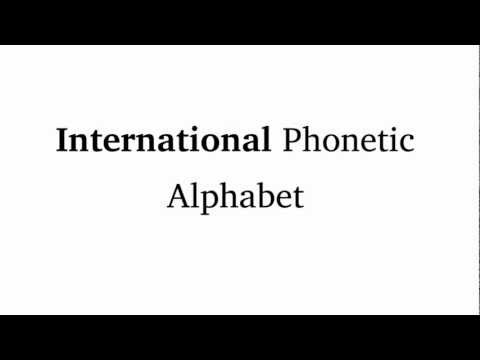 IPA Tutorial: Introduction to the International Phonetic Alphabet