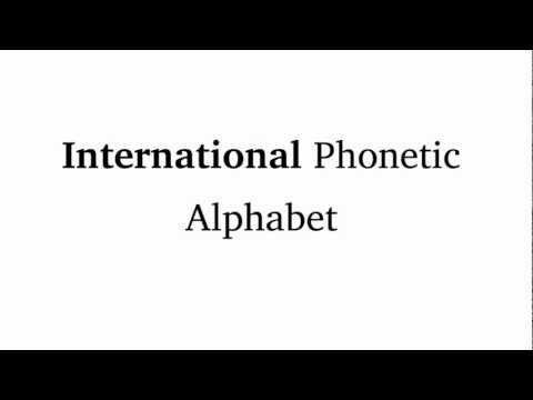 IPA Tutorial: Introduction To The International Phonetic Alphabet