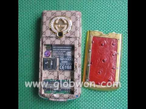 gucci g800 gold silver diamond phone