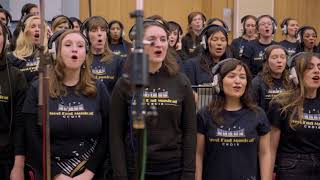 West End Musical Choir singing at Abbey Road Studios