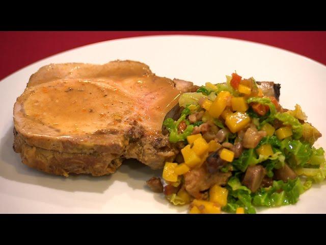 Recette : carré de porc fondant et légumes d'hiver