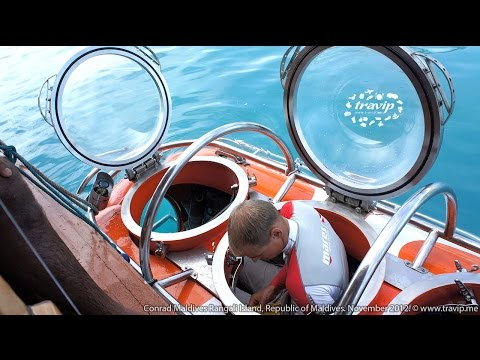 Maldives: Nemo Tourist N100 submarine at Conrad Rangali Islands