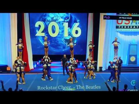 Rockstar Cheer The Beatles Worlds 2016 finals