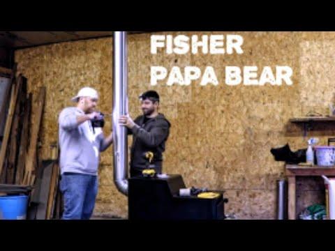 Fisher Papa Bear Install!! 12+ Hour Burn Time!
