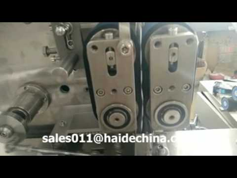 Colombia aviation cutlery two color printing automatic feeding and packaging machine