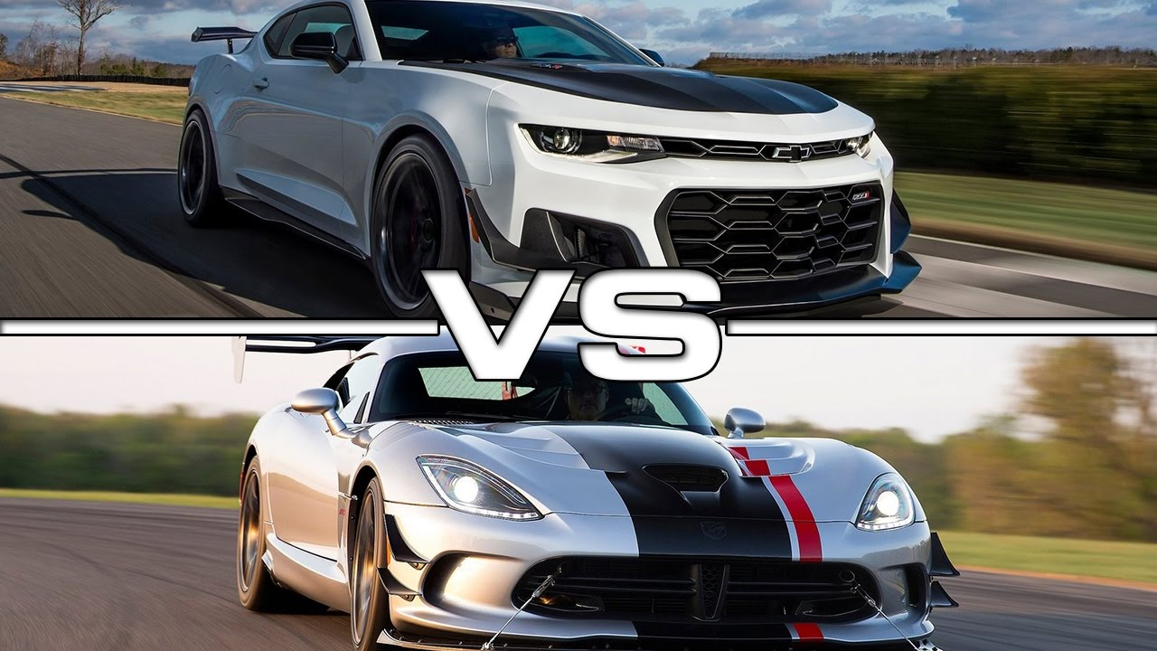 2018 Chevrolet Camaro Zl1 Vs Dodge Viper Acr Youtube
