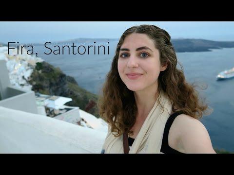 Exploring Fira, Santorini!