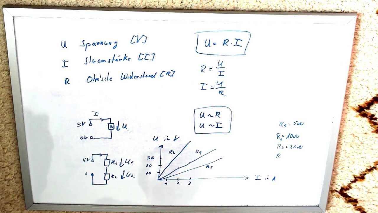 Elektrotechnik 1: Grundlage Ohmsches Gesetz - YouTube