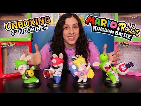 "Unboxing ALL 6"" Mario + Rabbids Kingdom Battle Figures! Peach, Yoshi, Luigi, Mario!"