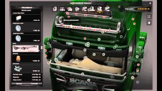 [ETS2]Euro Truck Simulator 2 Tuning Mega Store for Scania R  v 1.5 Part I