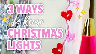 3 DIYs To Reuse Christmas Lights - HGTV Handmade