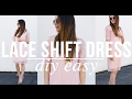 DIY very easy lace shift dress