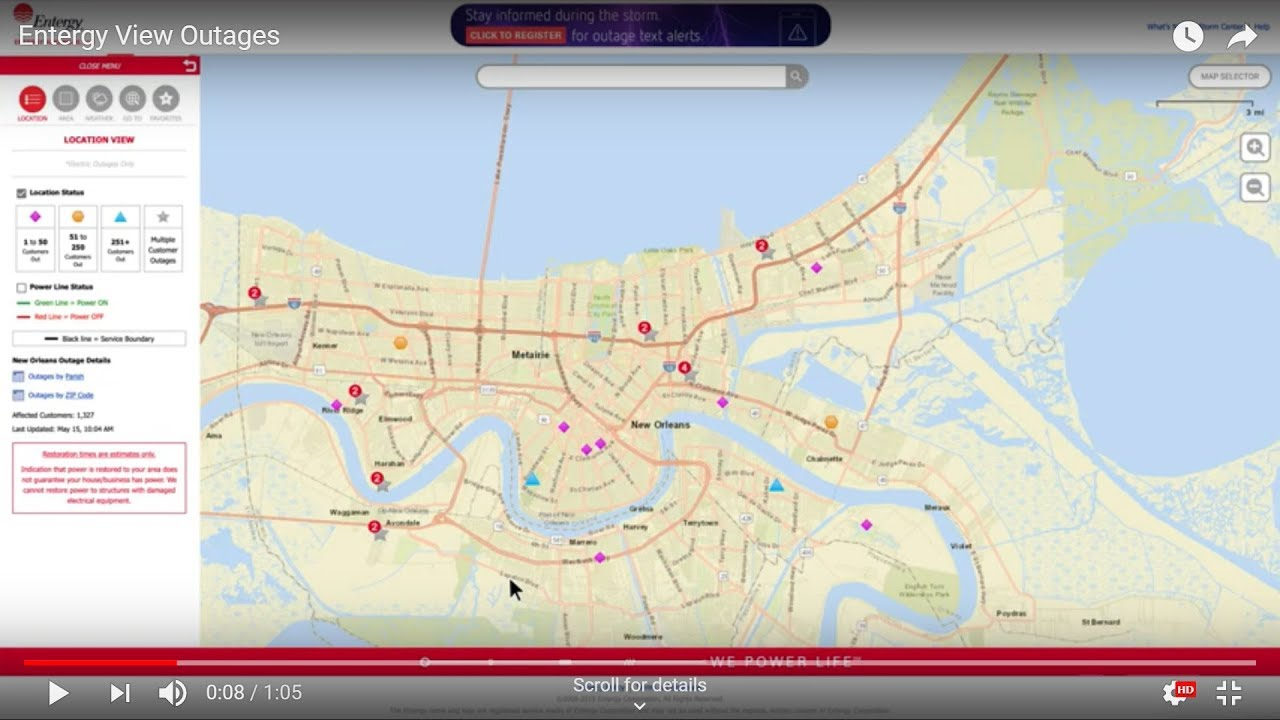 What's New on Entergy's View Outages Map? | Entergy Newsroom