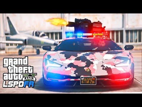 GTA 5 - LSPDFR Ep515 - Military Police Lambo in Camo!!