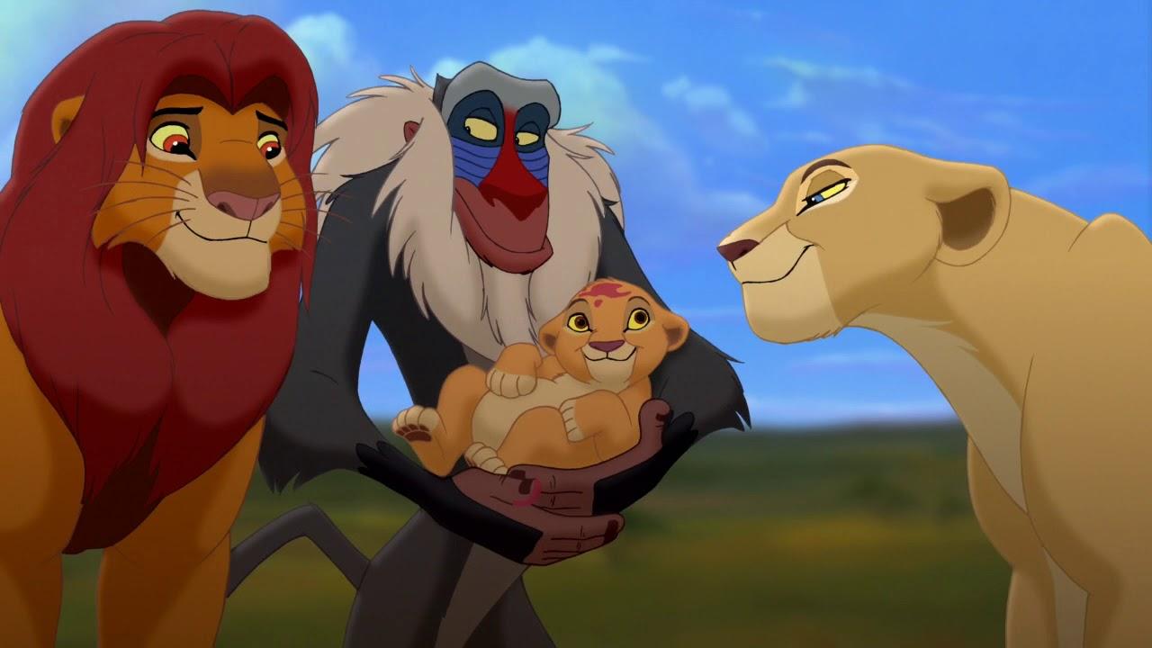 Король лев картинки симбы на руках