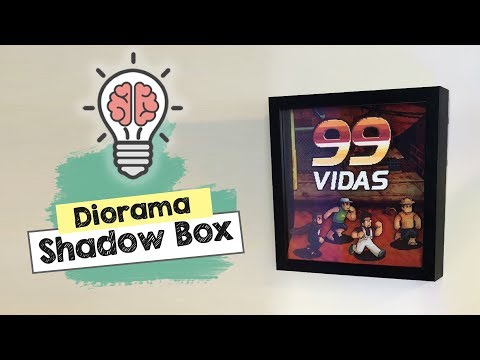 DIY videogame shadow box diorama [ decor geek / nerd / gamer ]