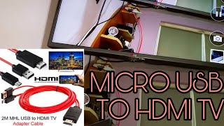 Micro USB MHL To HDMI Cable HD 1080P For Samsung Galaxy Note 3 S4 S5