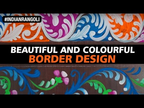 Most Beautiful And Colourful Border Painting On The Floor Best