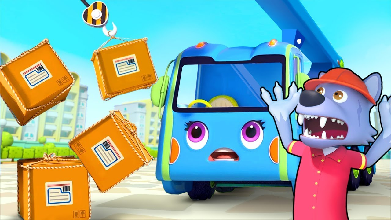 Crane Truck and Big Bad Wolf | Cars for Kids | Nursery Rhymes | Kids Songs | Kids Cartoon | BabyBus