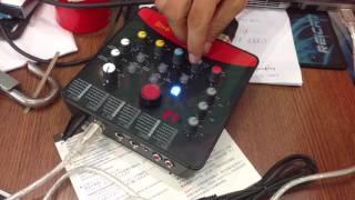 Hướng dẫn sử dụng Micro Takstar và Soundcard Upod Nano