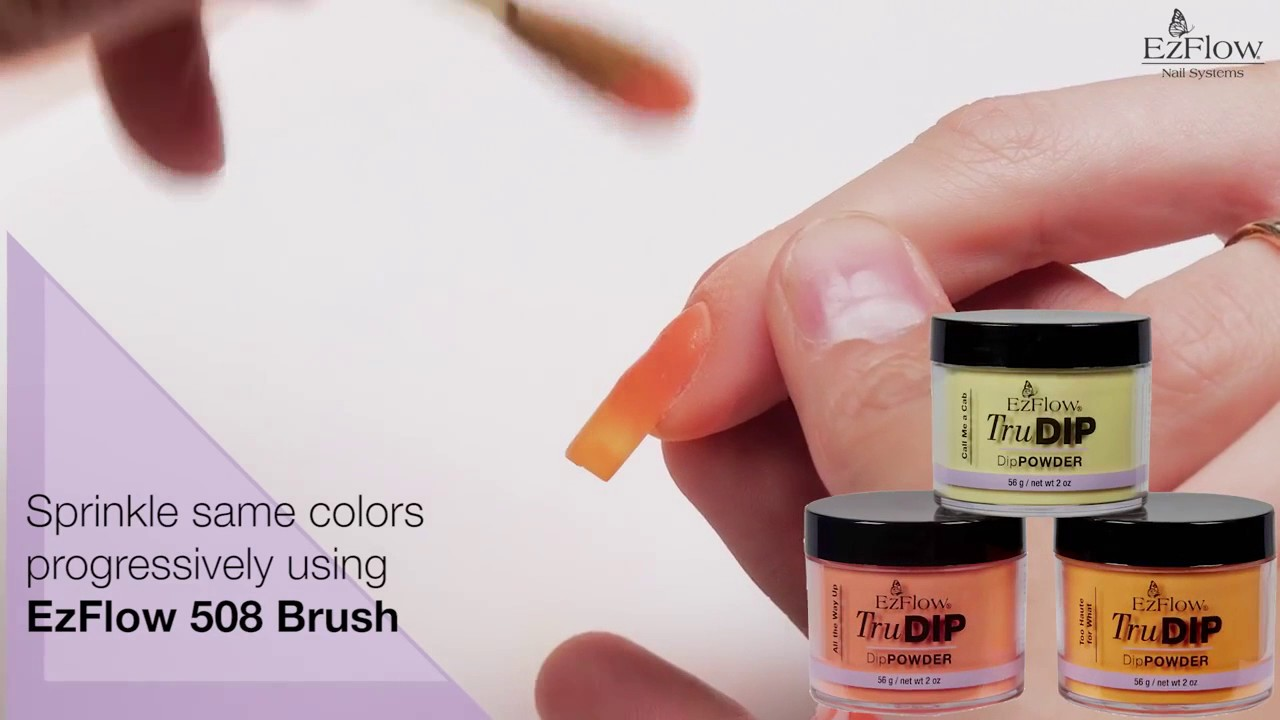 EzFlow TruDip Ombre 3D Flower Nail Art - YouTube