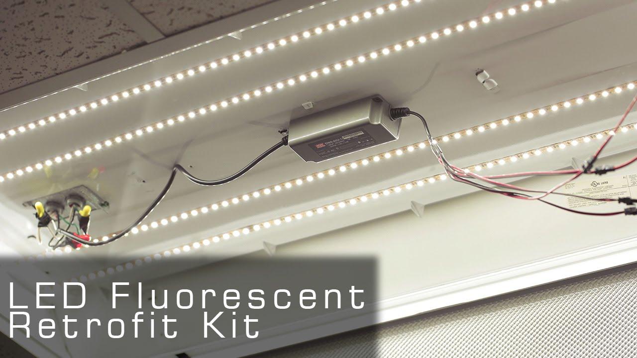 ul listed led fluorescent retrofit kit rather led tubes [ 1280 x 720 Pixel ]