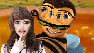 Bee movie trailer but every time they say bee a Japanese girl moans